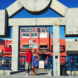 Couple at Muscle Beach