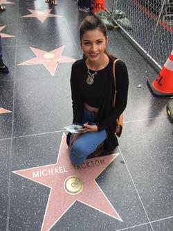 Girl at Michael Jackson star