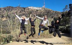 Jumping at Hollywood Sign