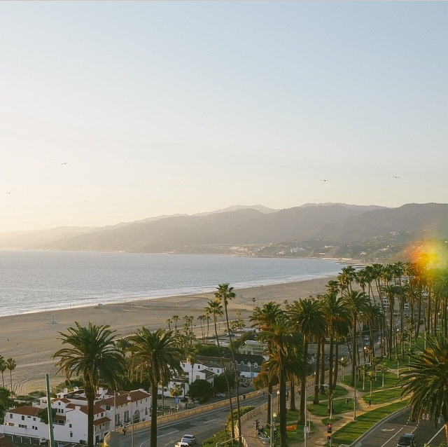 Beautiful view of Santa Monica Beach