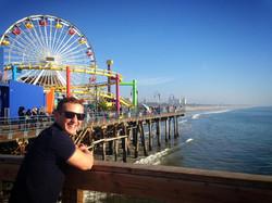 Tour guest at Santa Monica Pier