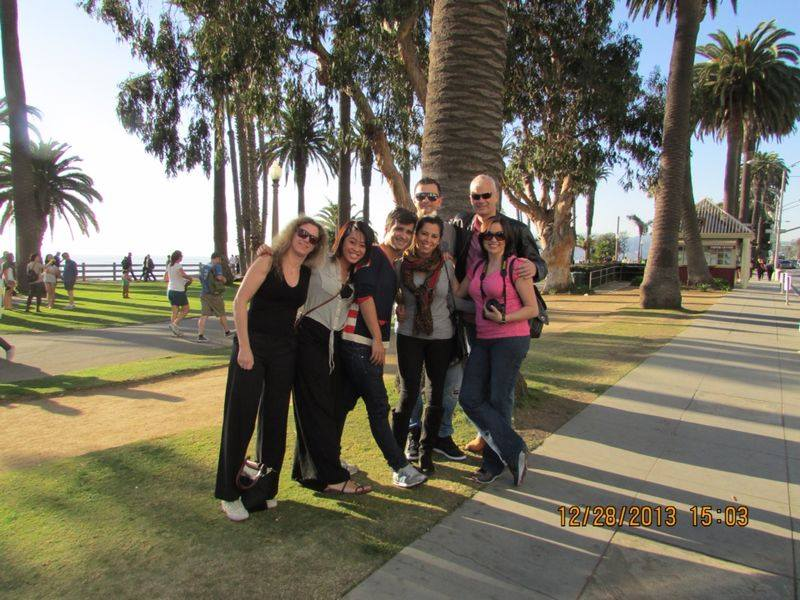 Guests on tour at Santa Monica park
