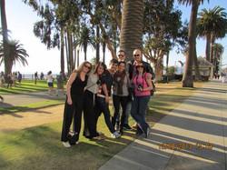 Guests on tour at Santa Monica park