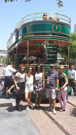Tour group at The Grove