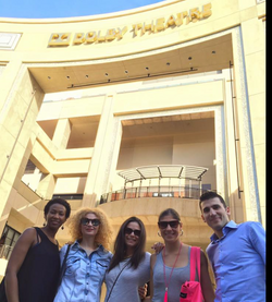 5 friends in front of Dolby Theatre