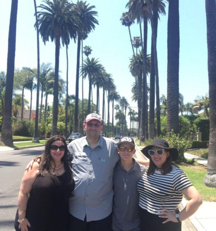 Family enjoying day in Beverly Hi