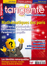 Couverture du magazine Tangente n°175
