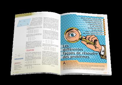 """Mise en pages pour le magazine Tangente - Ouverture du dossier """"Résoudre des problèmes"""""""