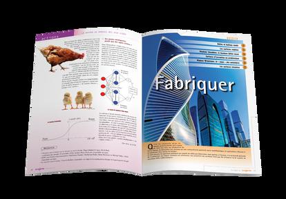 """Mise en pages pour le magazine Tangente - Ouverture du dossier """"Fabriquer"""""""