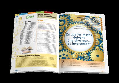 Mise en pages pour le magazine Tangente - Ouverture de dossier