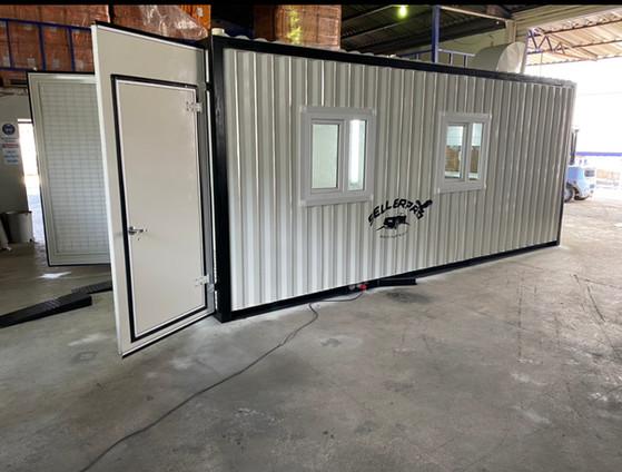 cabine container peinture