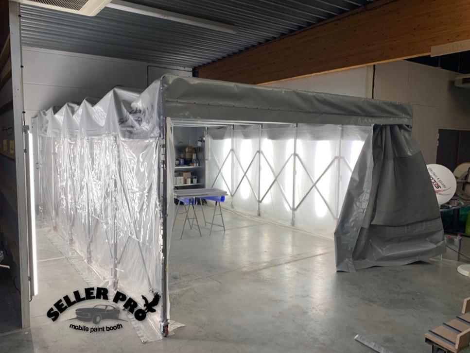 cabine de peinture rétractable démontable
