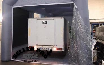 cabine de peinture gonflable camion