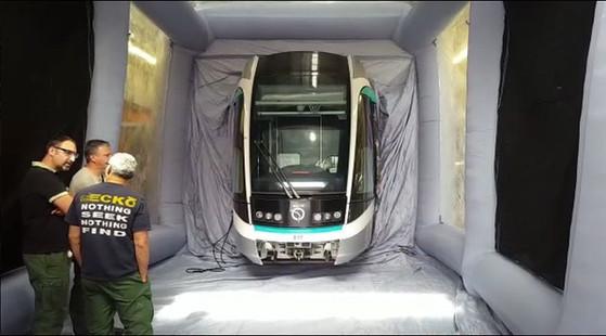 cabine peinture mobile pliable