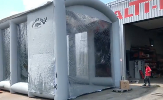 cabine de peinture gonflable