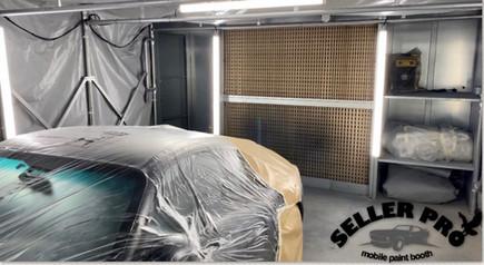 cabine peinture rétractable démontablemobile