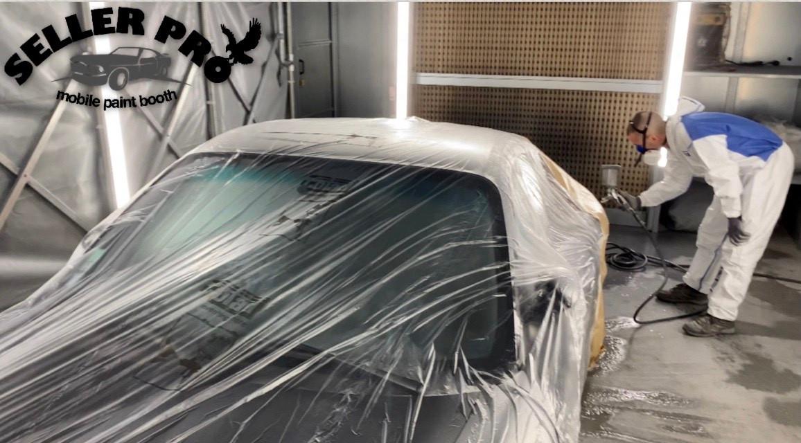 cabine peinture rétractable démontable mobile