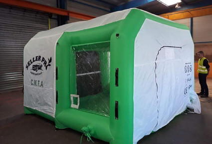 cabine gonflable aérogommage