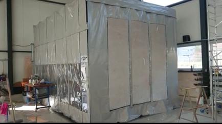 cabine de peinture rétractable