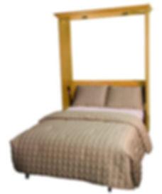Traditional Murphy bed Woodside open