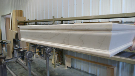 Murphy bed crown molding in the factory