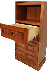 Murphy bed side cabinet drawers