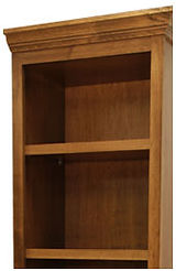 Murphy bed side cabinet shelves