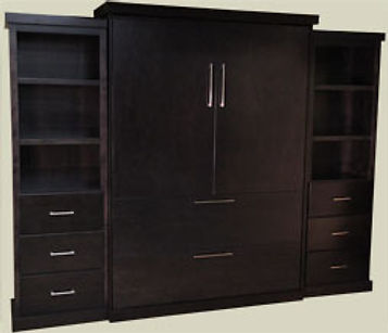 Traditional Murphy Bed - Chelsea Point with two side cabinets