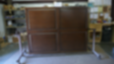 Murphy bed pieces stained