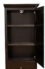 Shelving for Murphy bed side cabinet