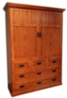 Traditional Murphy Bed - Oak Mission