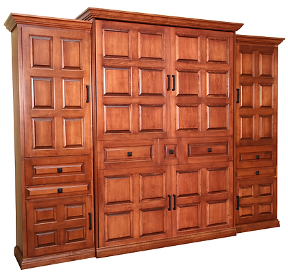 Traditional Murphy Bed - American Century with Side Cabinets