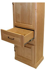 Drawer of Murphy bed side cabinet