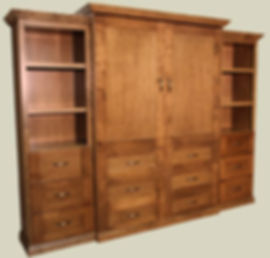 Traditional Murphy bed - Tinley Park with side cabinets
