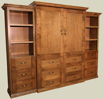 Traditional Murphy Bed Stafford Park with side cabinets