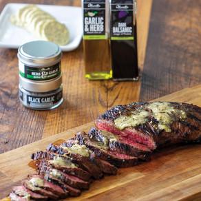 Herb & Garlic Tri-Tip with Compound Butter