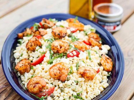 Spanish Grilled Shrimp Pasta Salad