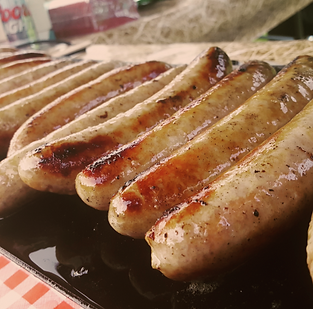 american smoky louisiana sausage hot dogs - street food private hire catering