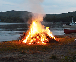 campfire, bonfire, marshmellow roasting, cold beer, mosquito and bug spray