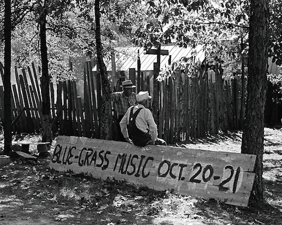 old bluegrass music festival retro