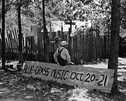 old bluegrass music festival retro
