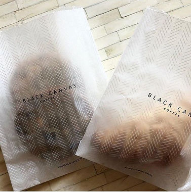 Love these translucent pastry bags we just printed for _blackcanavscoffee
