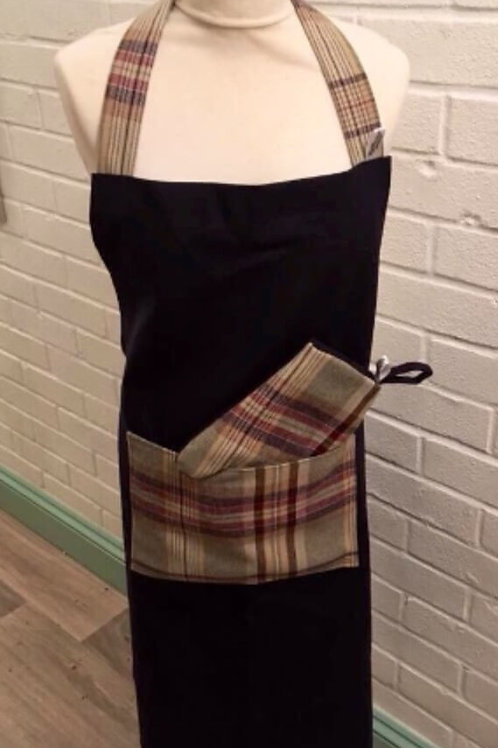 Apron with Matching Oven Mitt