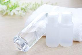 タオルと美容液のボトル