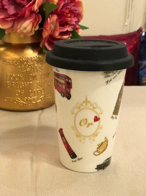 Porcelain Art Coffee Mug 日本白瓷貼咖啡杯