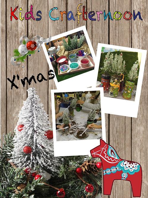 Kids Crafternoon |迷你聖誕樹裝飾班 24 Dec 2016 2:00~4:00