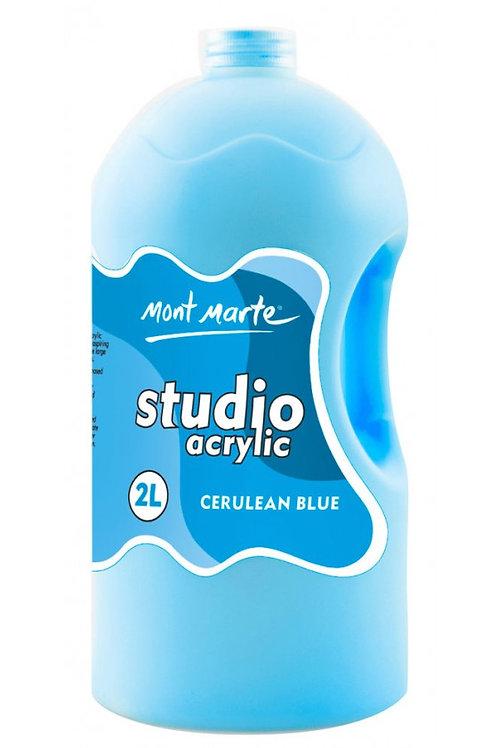 Mont Marte Acrylic Pump 2L - Cerulean Blue