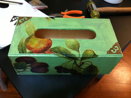 Decoupage Tissue Box | Appointment ONLY