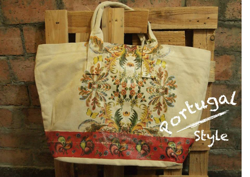 Decoupage Shopping Bag