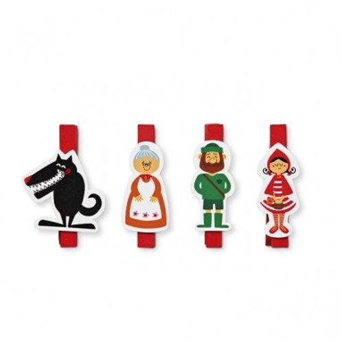 北歐生活雜貨 | 小紅帽 Wooden Clips
